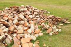 Pile of brick wall Royalty Free Stock Images