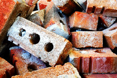 Pile of bricks Stock Images