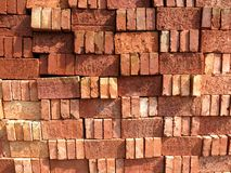 Pile of Bricks. Big pile of red bricks stacked up for construction stock images