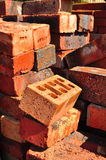 Pile of bricks Stock Photos