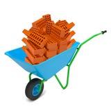 Pile of bricks in hand-barrow Stock Photography