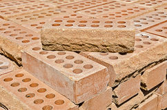 Pile of bricks Stock Image