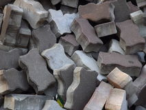 Pile of bricks texture. Pile of bricks during road works Stock Image