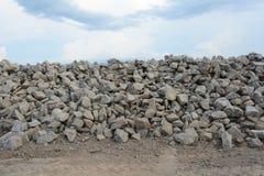Pile of bricks under the sky Royalty Free Stock Image