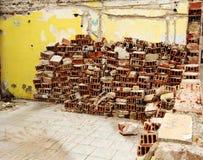 Pile of bricks Stock Image