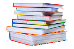 Pile of the bright color books Stock Photos
