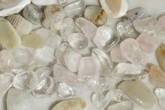 Pile of bright semi-precious stones. Texture stock images
