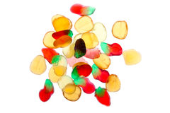 Pile of brightly coloured wine gums Stock Photo
