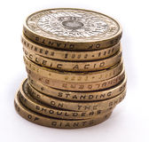 Pile of British coins Stock Image