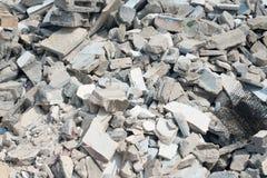 Pile of broken bricks royalty free stock images