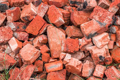 A pile of broken bricks Royalty Free Stock Photography