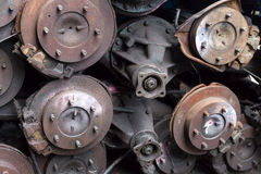 Pile of broken car differentials Royalty Free Stock Images