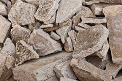 The Pile of Broken Concrete Stock Images