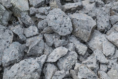 Pile of broken concrete construction Royalty Free Stock Photography