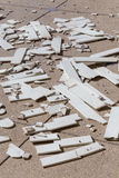 Pile of broken damaged wood Royalty Free Stock Photography
