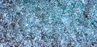 A pile of broken glass Royalty Free Stock Images