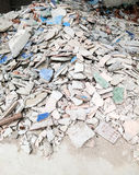 Pile of broken tiles Royalty Free Stock Image