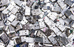 A pile of broken usb and micro usb Stock Images