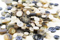 Pile of Brown Buttons Stock Photography