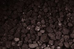 Pile of brown coal texture Royalty Free Stock Images