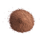 Pile of brown cocoa powder Royalty Free Stock Photos