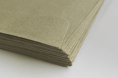 Pile of brown envelopes Royalty Free Stock Photography