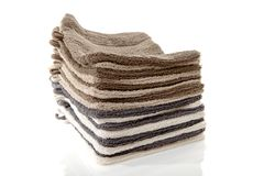 Pile of washcloths Stock Photo