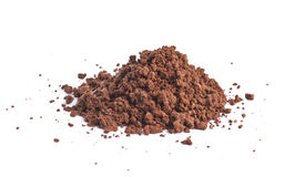Pile of the brown ground soil isolated Royalty Free Stock Photos