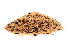Pile of brown rice Royalty Free Stock Images