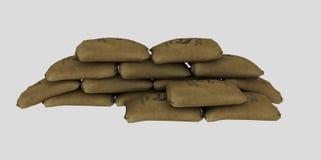 Pile of brown sacks Stock Photo