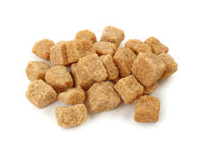 Pile  of brown sugar cubes Stock Image