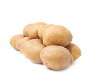 Pile of brown washed potatoes isolated Royalty Free Stock Photography