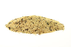 Pile Brown and Wild Rice. Stock Photos