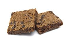 Brownie isolated on white background. royalty free stock photos