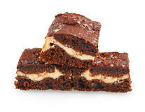 Pile of brownies Stock Images