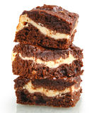 Pile of brownies Stock Photo