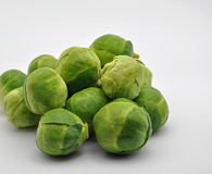 Pile of brussel sprouts Royalty Free Stock Images