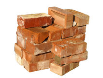 Pile of building bricks Stock Photo