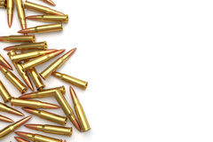 Pile of bullets on white background. Stock Images