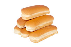 Pile of buns for hot dog Stock Photo
