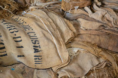 Pile of Burlap royalty free stock images