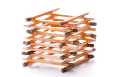Pile of burnt match sticks Stock Image