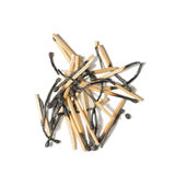Pile of burnt matches Royalty Free Stock Photography