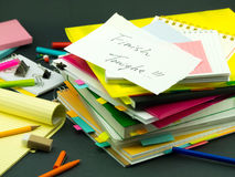 The Pile of Business Documents; Finish Tonight Royalty Free Stock Photo