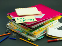 The Pile of Business Documents Royalty Free Stock Photos