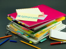 The Pile of Business Documents; Negotiation Stock Photo