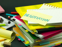 The Pile of Business Documents; Negotiation Royalty Free Stock Image