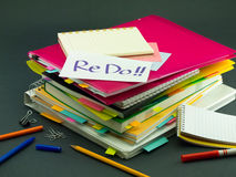 The Pile of Business Documents; Re Do Royalty Free Stock Photo