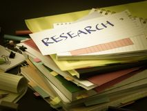 The Pile of Business Documents; Research.  Royalty Free Stock Photo
