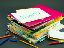 The Pile of Business Documents; Strategy Royalty Free Stock Photo